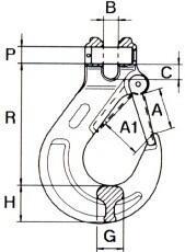 Hák s vidlicí WAE průměr 16 mm GAPA12, třída 8 - 2