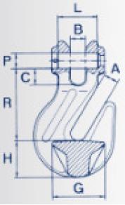 Zkracovací hák s vidlicí ZHV průměr 13 mm, třída 8 - 2