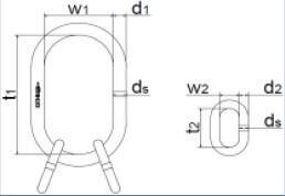 Závěsné oko zvětšené K25t/3-08X, 340x180 mm, třída 10 - 2