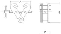 Šroubovací závěsná svěrka CSVW 1t, 75-190mm - 2/2