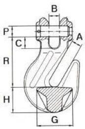 Zkracovací hák s vidlicí ZHVE průměr 16 mm GAPA009, třída 10 - 2