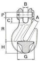 Zkracovací hák s vidlicí ZHVE průměr 16 mm GAPA009, třída 10 - 2/2