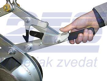 Svěrací kleště na kruhové profily SKR 500kg, 350mm - 2
