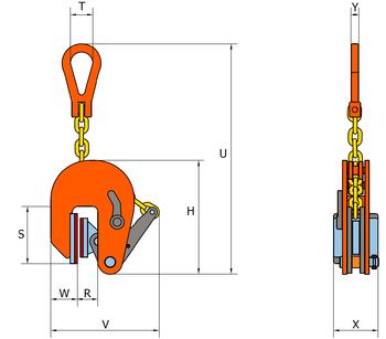 Vertikální svěrka VNMW 0,5 t, 1-20 mm - 2