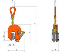 Vertikální svěrka VNMW 0,5 t, 1-20 mm - 2/3