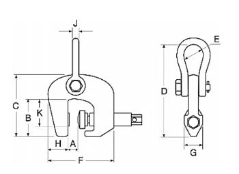 Šroubovací svěrka CSH 3t, 0-50 mm - 2