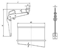 Nosič sudů okrajový NSO, nosnost 300kg, pr.600mm - 2/2