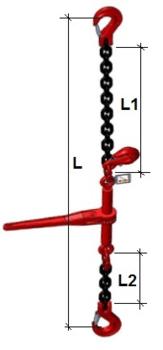 Stahovací řetězová sestava typ č.1 průměr 8 mm, délka 12 m, třída 8 GAPA - 2