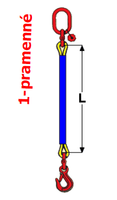 Oko-hák textilní RS, nosnost 1t, délka 2,5m, GAPA - 2/2