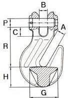 Zkracovací hák s vidlicí ZHVE průměr 8 mm GAPA86, třída 8 - 2/2