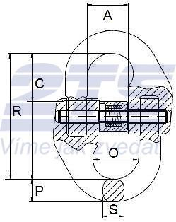 Spojovací člen VGE průměr 26 mm GAPA74, třída 8 - 2