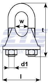 Lanová svorka DIN 741, průměr 34 mm - 2
