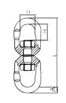 Otočná spojka s maticí průměr 10 mm GAPA31, třída 8, nosnost 3,15t - 2