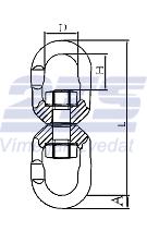Otočná spojka s maticí průměr 7/8 mm GAPA31, třída 8, nosnost 2t ( obrtlík ) - 2