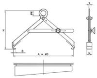 Nosič sudů vertikální s pojistkou NSVG, nosnost 300kg, pr.600mm - 2/2