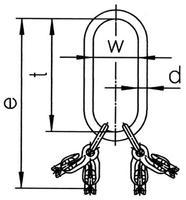 Montovaný závěsný systém LXKW 4-8, třída 10 - 2/3
