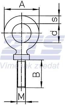 Šroubovací bod RGS M20x18, nosnost 2,5 t - 2