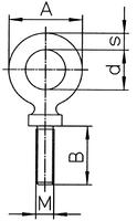 Šroubovací bod RGS M20x18, nosnost 2,5 t - 2/4