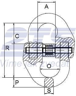Spojovací člen VGE průměr 6 mm GAPA74, třída 8 - 2