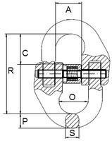 Spojovací člen VGE průměr 6 mm GAPA74, třída 8 - 2/2