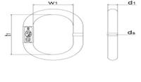 Závěsné oko AE22-13-10 GAPA, třída 8 - 2/2