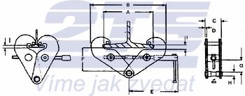 Šroubovací svěrka CTK 1 t, 75-230 mm - 3