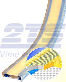 PU ochrana jednostranná Clip-SC s kovovou výztuhou a broušeným povrchem šíře 75mm - 3