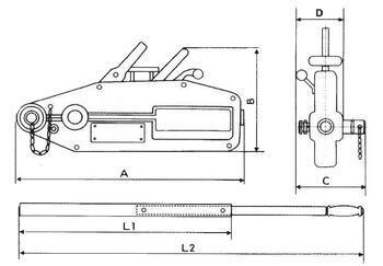 Lanový napínač CSZ 0,8 t, bez lana - 3