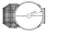 Beton silo 1016H.12, objem 1000 l - včetně obsluhovací plošiny na 1 osobu - 3/5