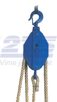 Obecný kladkostroj K11, nosnost 2t,pro textilní lano ( bez lana) - 3