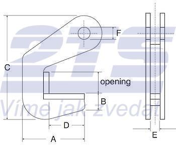 Horizontální svěrka CPH 6 t, 50 mm, pár - 3