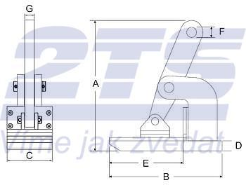 Horizontální svěrka CNMH 1 t, 0-25 mm (pár) - 3