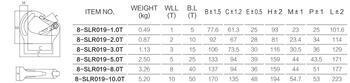Navařovací hák SAH 3 000 kg, GAPA019, třída 8 - 3