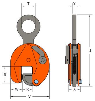 Vertikální svěrka VCW 25 t, 5-85 mm - 3