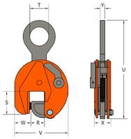 Vertikální svěrka VCW 25 t, 5-85 mm - 3/5