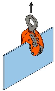 Vertikální svěrka VCEW-H 4,5t, Extra-Hart, 0-45 mm - 3