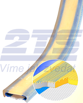 PU ochrana jednostranná Clip-SC s kovovou výztuhou a broušeným povrchem šíře 300mm - 3