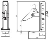 Horizontální svěrka CHHKV 3 t, 0-180 mm - 3/4