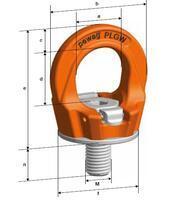 Šroubovací otočný  bod PLGW M30x45, nosnost 4,9 t, basic bez čipu- pro montážní klíč - 3/4
