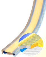 Polyuretanová ochrana jednostranná s broušeným povrchem a kovovou výztuhou SF1 šíře 100mm - 3/3