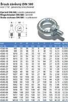 Šroub s okem DIN 580 M30x44mm, ocel C15E, galvanicky pozinkovaný - 3/3