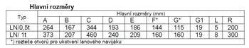 Lanový naviják LN 1 t bez lana - 3