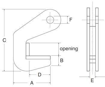 Horizontální svěrka CPH 10 t, 70 mm, pár - 3