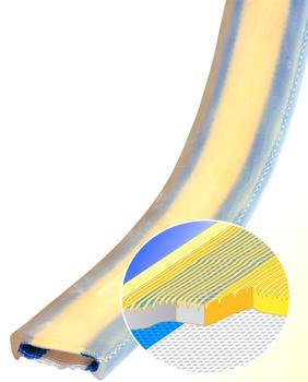 PU ochrana jednostranná Clip-SC s kovovou výztuhou a broušeným povrchem šíře 120mm - 3