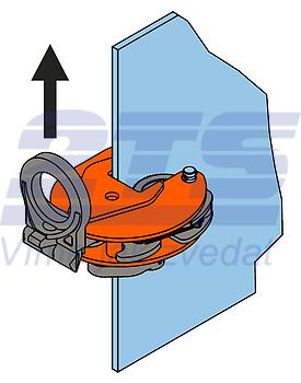 Vertikální svěrka VEUW-H 2t, Extra-Hart, 0-35mm - 3