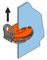 Vertikální svěrka VEUW-H 2t, Extra-Hart, 0-35mm - 3/6