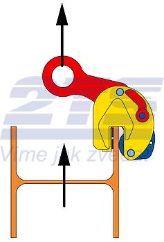 Nosníková svěrka CBV 2 t, 0-20 mm - 3