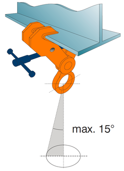 Šroubovací závěsná svěrka CSV 5t, 150-300mm - 3