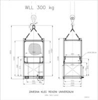 Závěsná revizní klec ZKR1 301/0,9m nosnost 300kg - 3/3