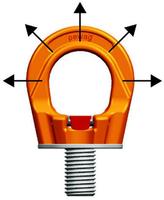 Šroubovací otočný  bod PLGW M36x55, nosnost 7 t, basic bez čipu- pro montážní klíč - 3/6